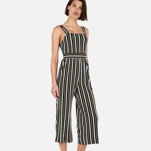 Express Striped Square Neck Jumpsuit